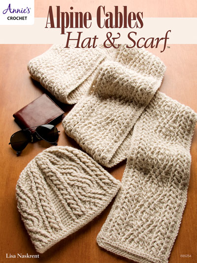 Crochet Scarf Patterns Alpine Cables Hat Scarf Crochet Pattern