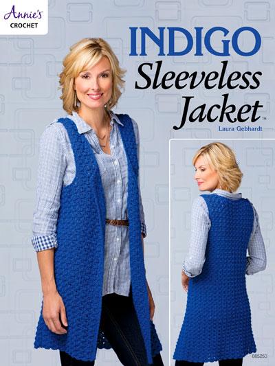 Crochet Cardigan Vest Patterns Indigo Sleeveless Jacket Crochet