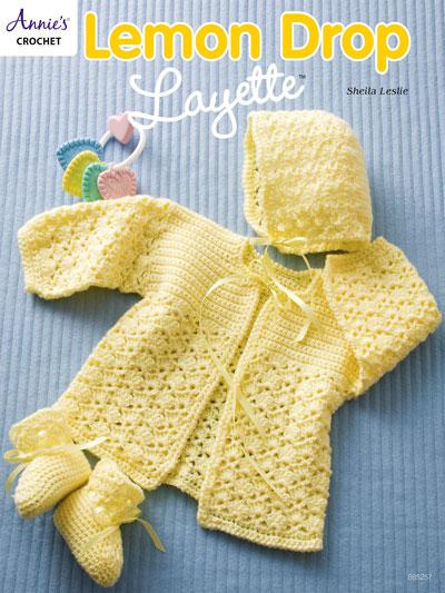Baby & Kids Crochet Accessories Patterns - Lemon Drop Layette ...