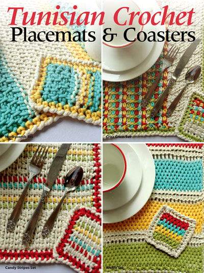 New Crochet Patterns Tunisian Crochet Placemats Coasters