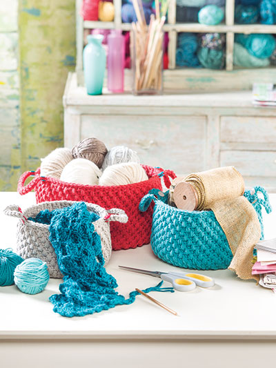 Stash Baskets Crochet Pattern