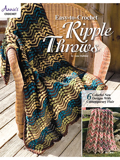 Easy-to-Crochet Ripple Throws