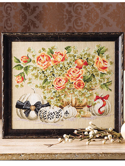 Hydrangeas & Roses Counted Cross Stitch