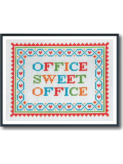 Office Sweet Office Counted Cross Stitch
