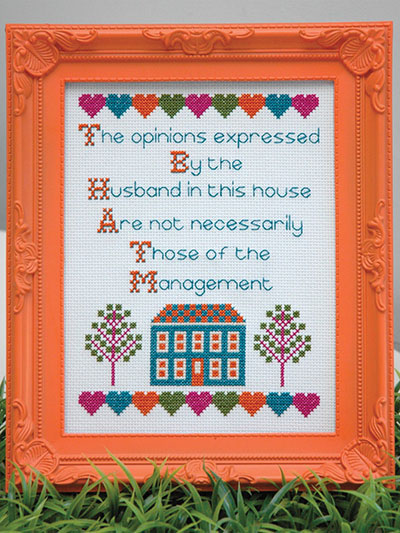Husband Quote Counted Cross Stitch