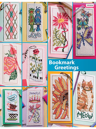 Counted Cross Stitch Bookmark Greetings