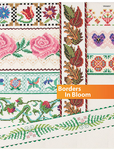 Counted Cross Stitch Borders in Bloom