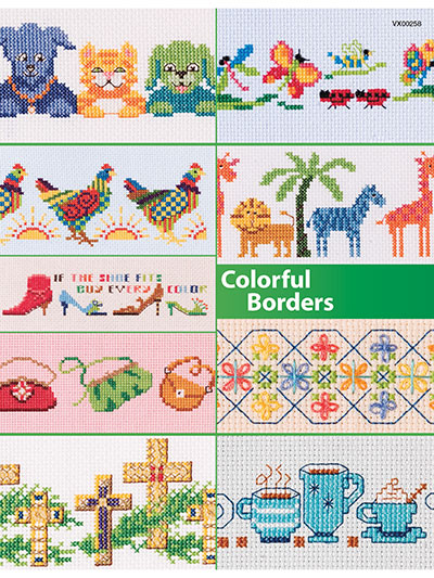Counted Cross Stitch Colorful Borders