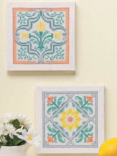 Floral Trivet Counted Cross Stitch Set