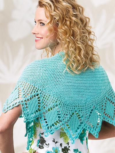 Crochet Shawl Wrap Patterns Point Pleasant Crochet Wrap