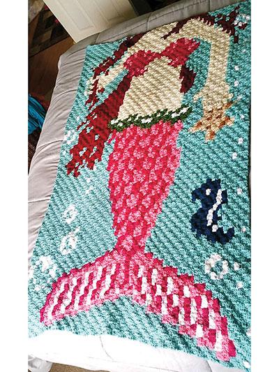 Crochet Afghan Downloads Corner To Corner Mermaid Afghan