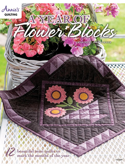 Quilt Patterns Out Of Print Patterns A Year Of Flower Blocks