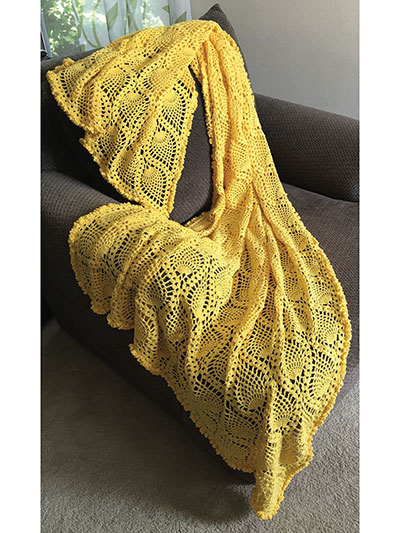Crochet Afghan Downloads Sunny Pineapple Afghan Crochet Pattern