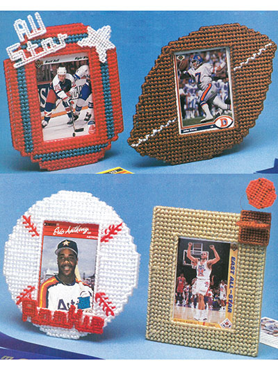 Plastic Canvas - Patterns - Out-of-Print Patterns - Sports Stars Frames