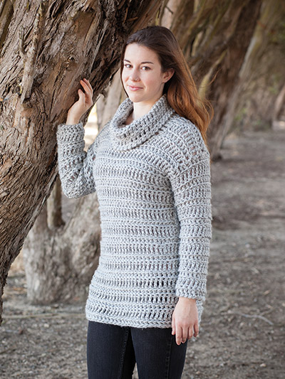 Annies Signature Designs Betula Sweater Crochet Pattern