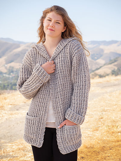 99a1b3ece Crochet Downloads - ANNIE S SIGNATURE DESIGNS  Hoodie Cardigan Crochet  Pattern