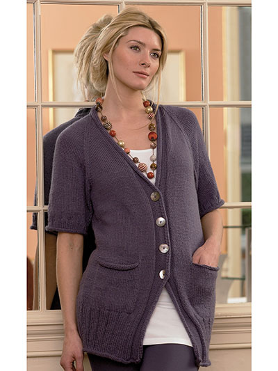 New Knitting Patterns 3202 Cardigan Top Knit Pattern