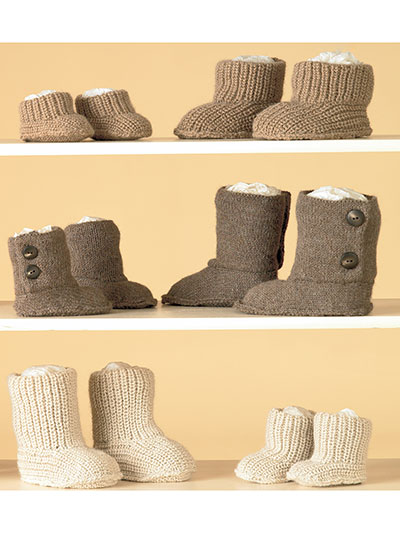 Boots Knitting Pattern