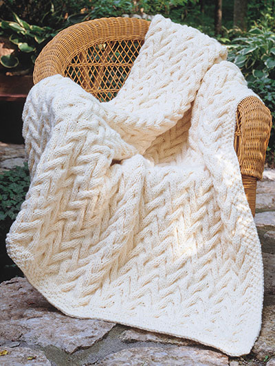 Customers Who Bought Reversible Cabled Afghan Knit Pattern Also ...