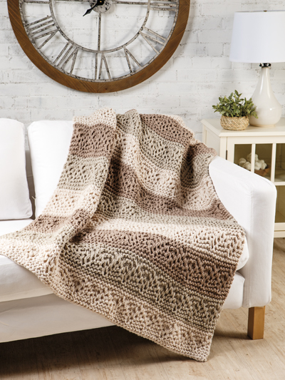 Knit Afghan Throw Patterns Weekend Cabin Knit Pattern