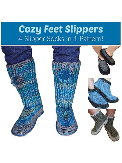 Crochet Cozy Feet Slippers