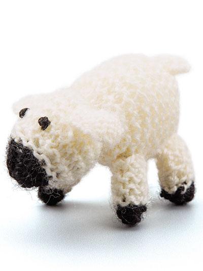 Home Decor Knitting Downloads Little Lamb Ornament Knit Pattern