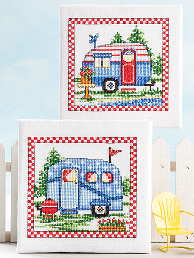 Road Trip Counted Cross Stitch Pattern