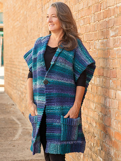 Crochet Clothing Downloads Santa Fe Ruana Crochet Pattern Delectable Crochet Ruana Pattern