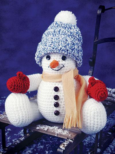 Smiling Snowman Crochet Pattern
