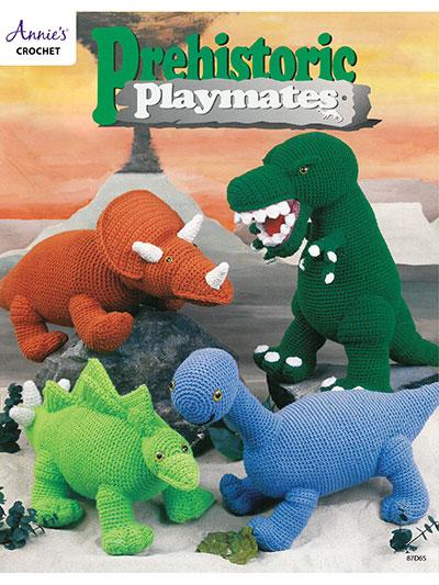 Crochet Doll Toy Downloads Prehistoric Playmates Crochet Pattern