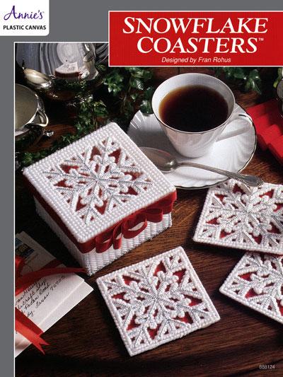 Plastic Canvas Christmas Coaster Patterns.Snowflake Coasters Plastic Canvas Pattern