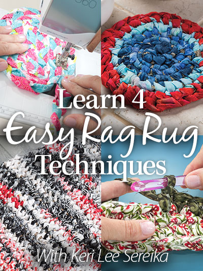 Learn 4 Easy Rag Rug Techniques
