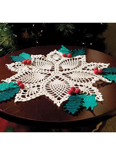 Crochet Doily Patterns Pineapple Holly Doily