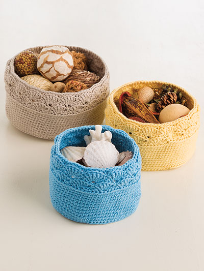 Crochet ANNIE'S SIGNATURE DESIGNS: Shell-Stitch Nesting Baskets Crochet Pattern