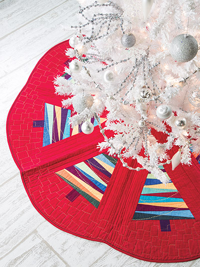 Festive Christmas Tree Skirt Sewing Quilting Pattern