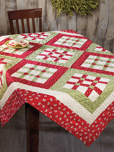Quilted Round Table Toppers.Nine By Nine Table Topper Pattern