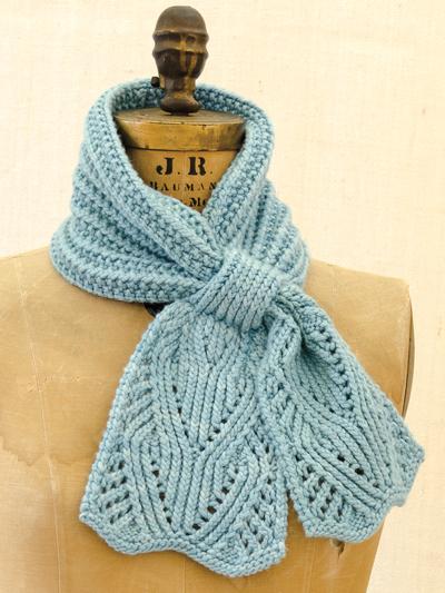 Scarf Knit Patterns Chantilly Lace Ascot Knit Pattern