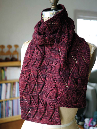 One Skein Knit Patterns Fall Line Scarf Knit Pattern