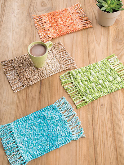 Annie S Signature Designs Mug Rugs Knit Pattern