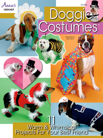 Doggie Costumes Crochet Pattern Book