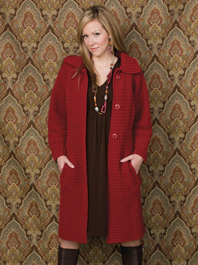 Textured Topper Crochet Coat Pattern