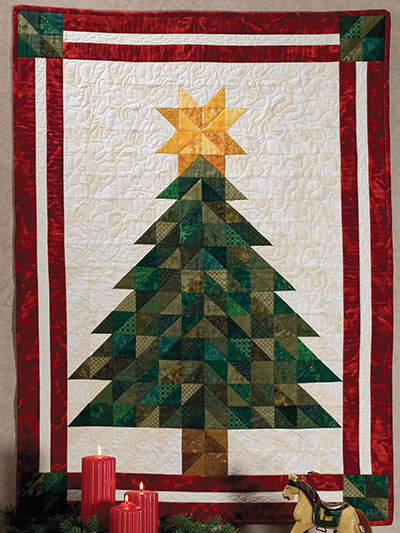 Beginner Quilt Patterns Oh Christmas Tree Wall Hanging Pattern