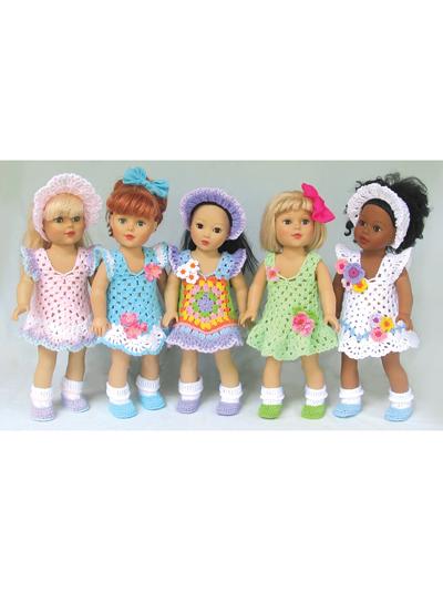 Crochet Patterns Grannys Sunday Best For 18 Dolls