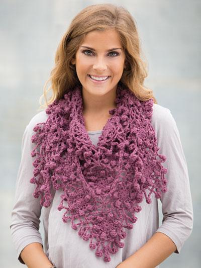 Crochet Scarf Patterns Flower Fringe Shawlette Crochet Pattern