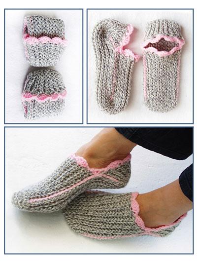Crochet Patterns - Ribbed Slipper Pocket Socks