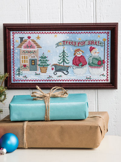 Christmas Tree Farm Counted Cross Stitch Pattern