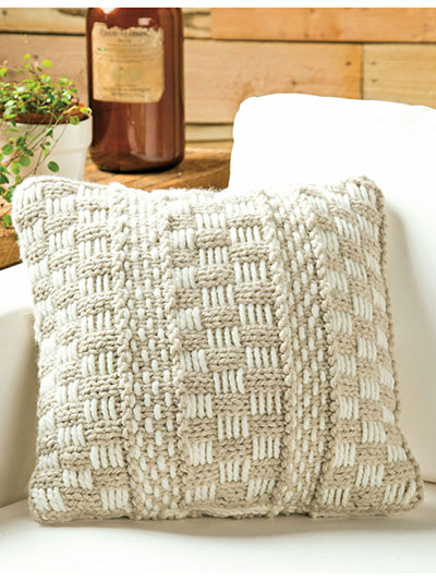 Home Decor Knitting Downloads Serenity Cushion Knit Pattern