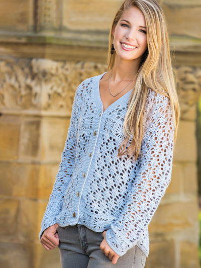 658f003e9 Crochet Cardigan   Vest Patterns - Classic Lace Cardigan Crochet Pattern