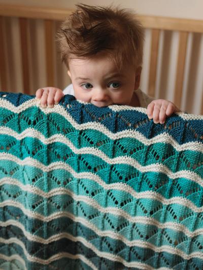 Bounce blanket knit pattern