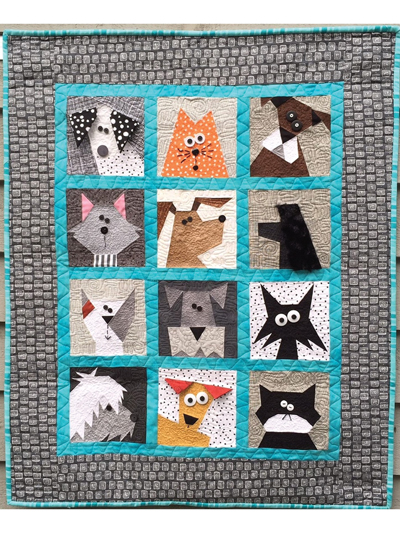 Animal Quilt Patterns Cats n Dogs Quilt Pattern Delectable Dog Quilt Patterns